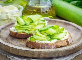 bruschetta zucchine ricetta FOTO ricettasprint