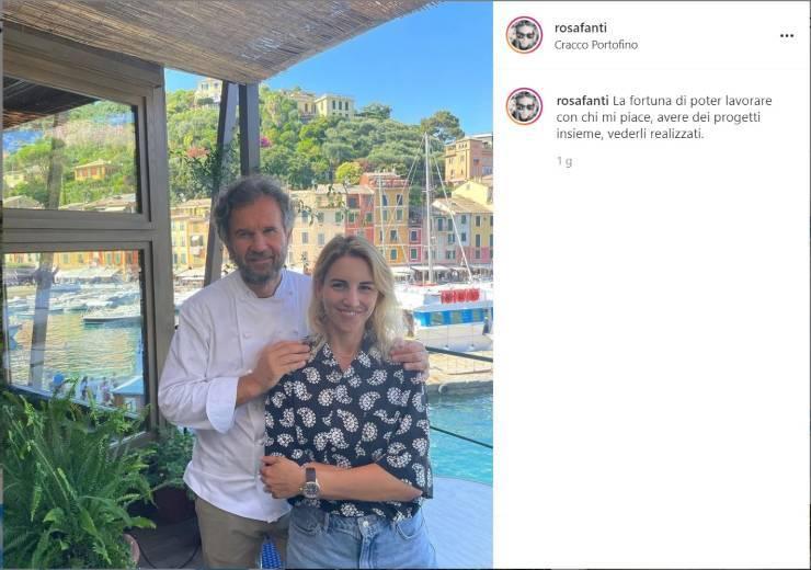 Carlo Cracco e Rosa Fanti scatto d'amore - RicettaSprint