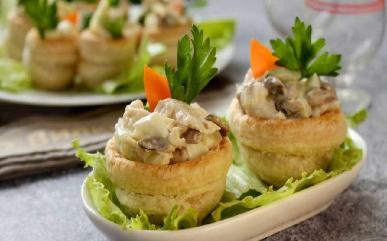 cestini sfoglia insalata russa ricetta FOTO ricettasprint