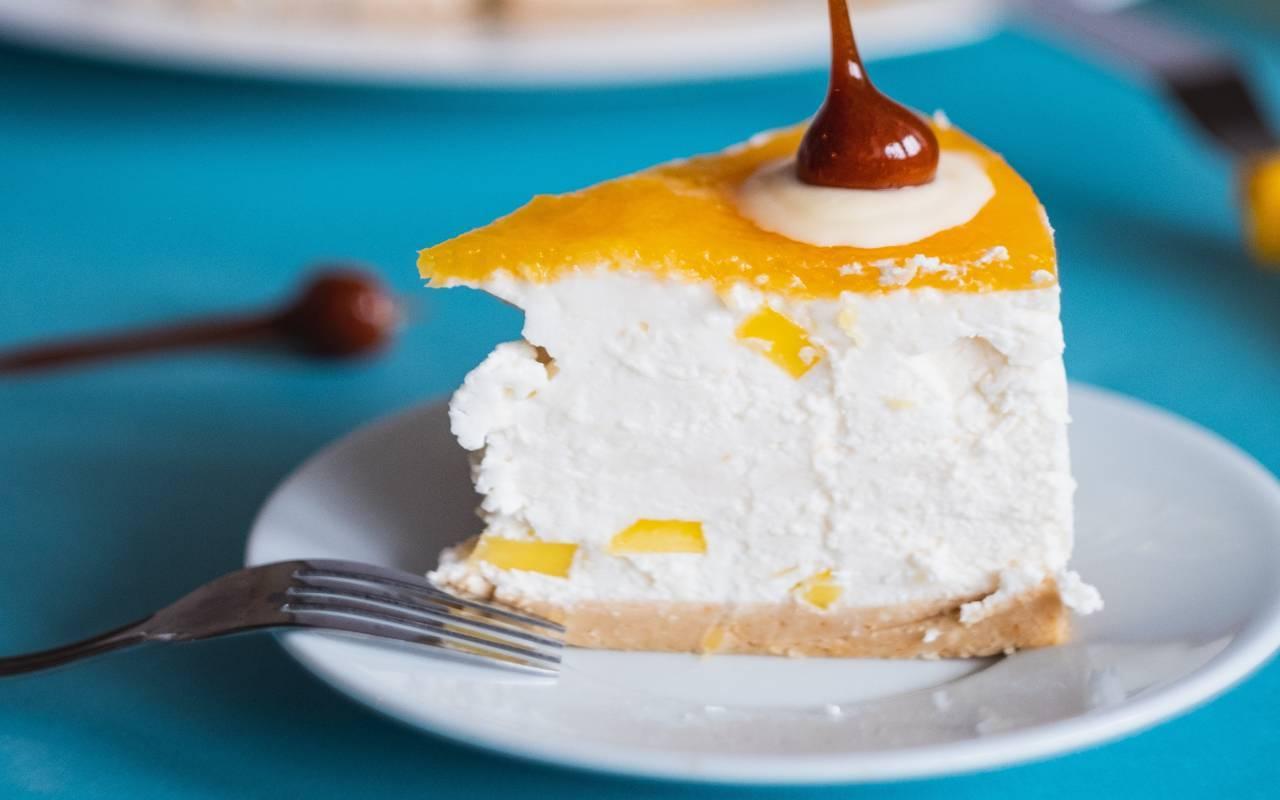 cheesecake mango ricetta FOTO ricettasprint