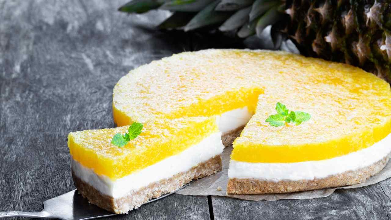 torta fredda ananas