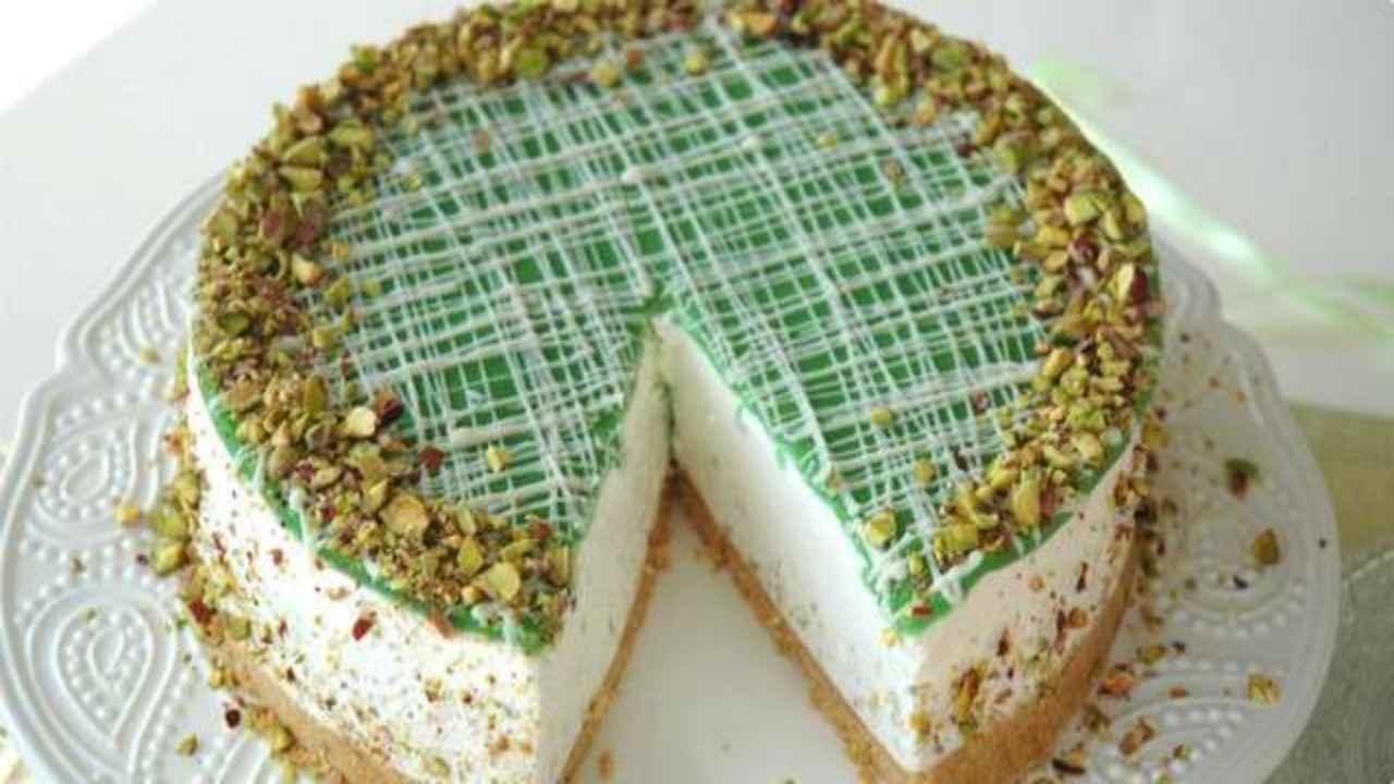 cheesecake pistacchio yogurt ricetta FOTO ricettasprint