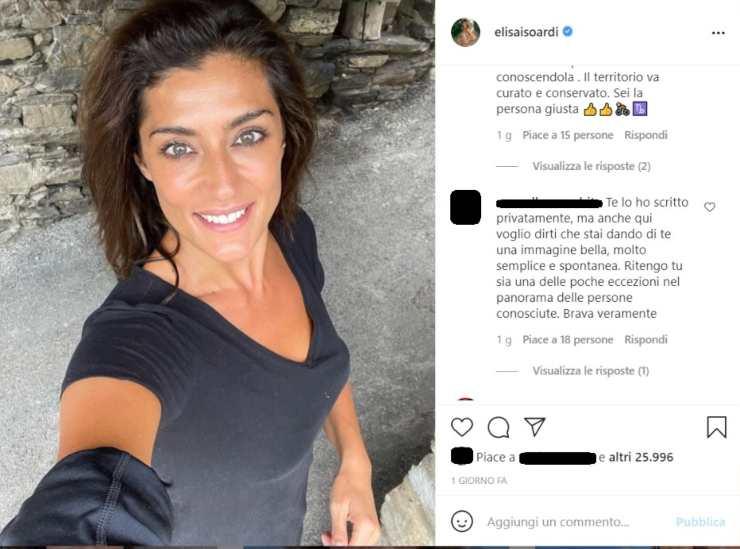 Elisa Isoardi dedica spiazza conduttrice - RicettaSprint