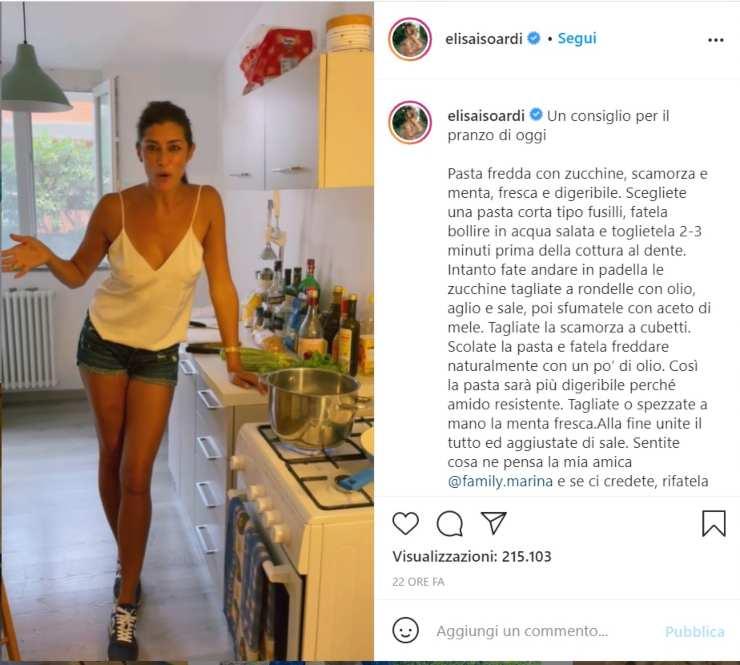Elisa Isoardi pranzo bollente - RicettaSprint