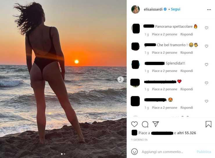 Elisa Isoardi tramonto - RicettaSprint