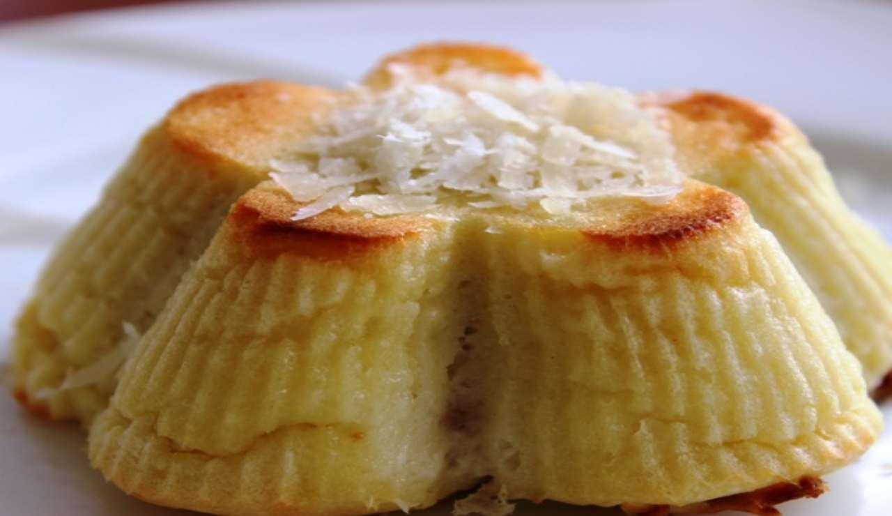 Flan di patate al fior di latte