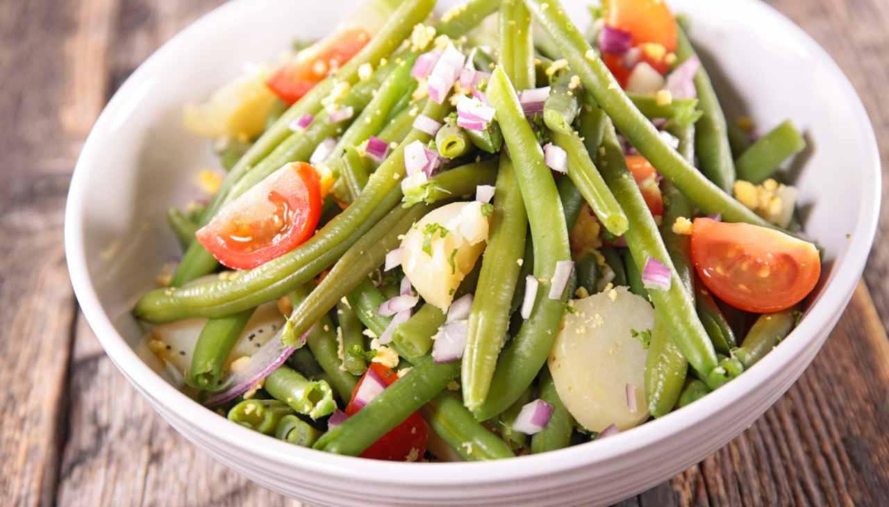Insalata di tuberi con verdura