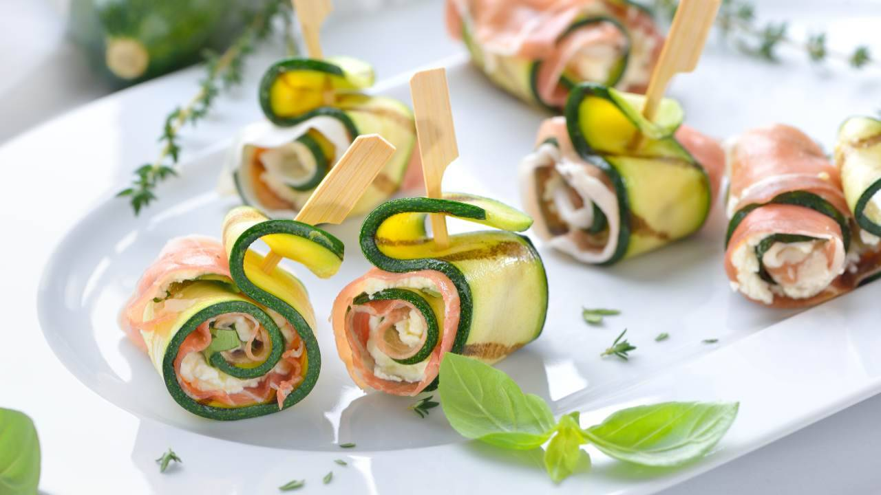 Involtini di zucchine farcite