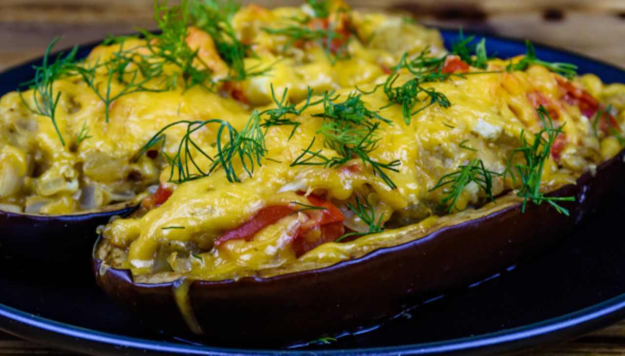 Ortaggi farciti con prosciutto e formaggio