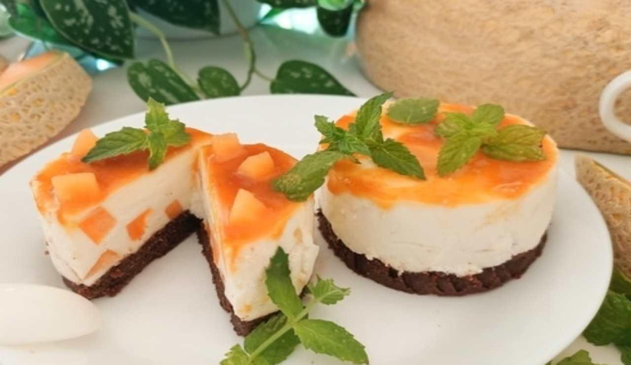 Mini cheesecake al melone senza cottura