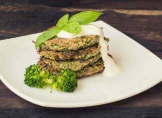 Pancake di cavolfiore e broccoli