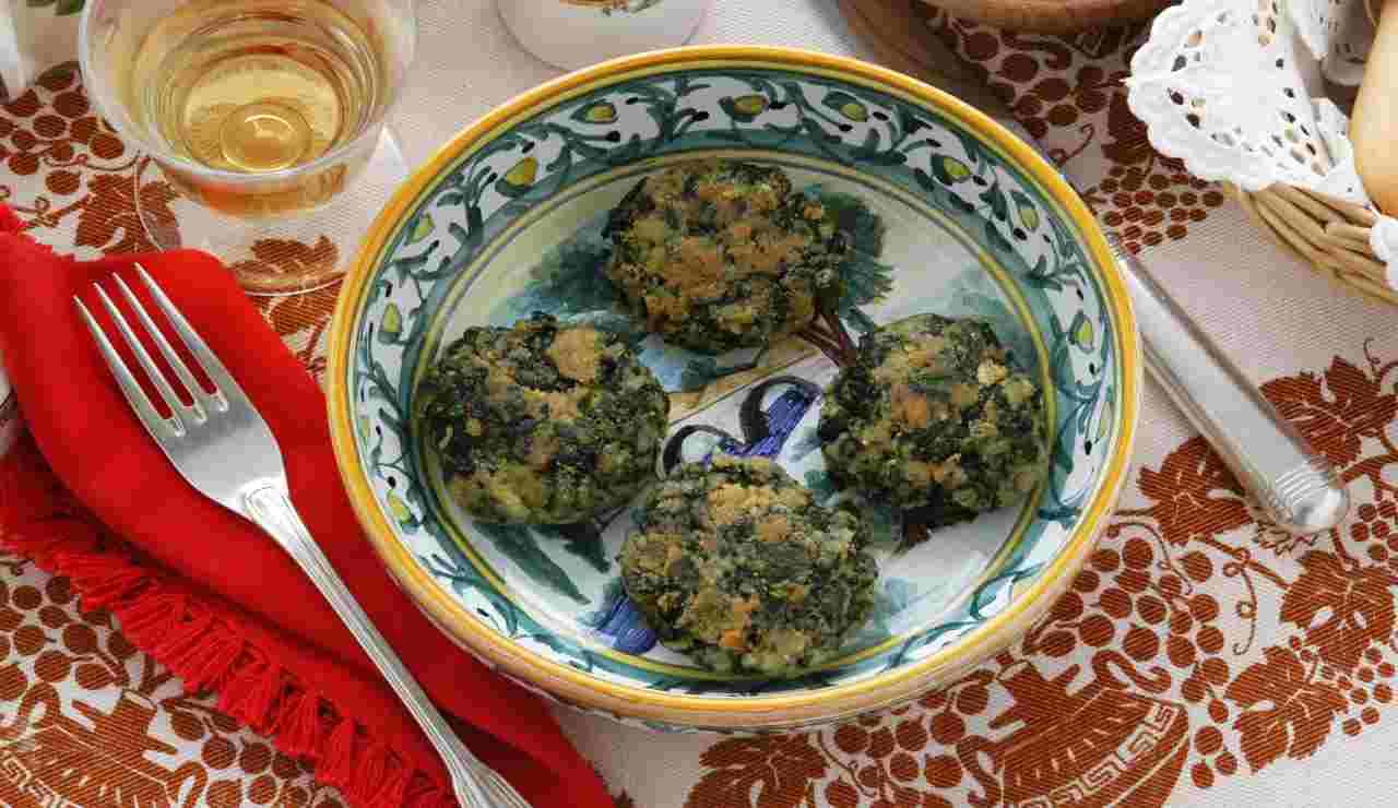 Polpettine lenticchie rosse spinaci e robiola