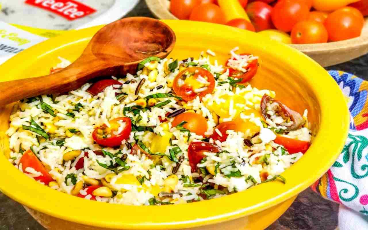 riso rucola pomodori formaggio ricetta FOTO ricettasprint