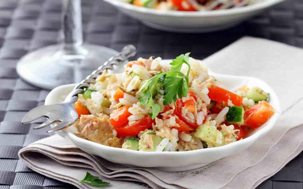 riso fagioli tonno pomodori ricetta FOTO ricettasprint