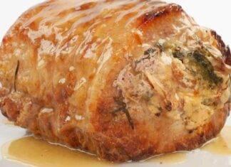 Rollata di maiale arrosto farcita ricettasprint