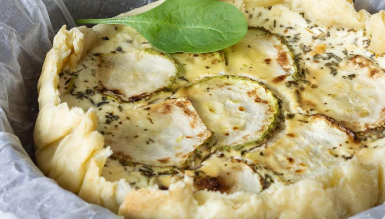 Torta salata verdura e formaggio con carne