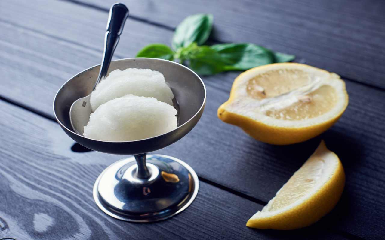 sorbetto limone ricetta FOTO ricettasprint
