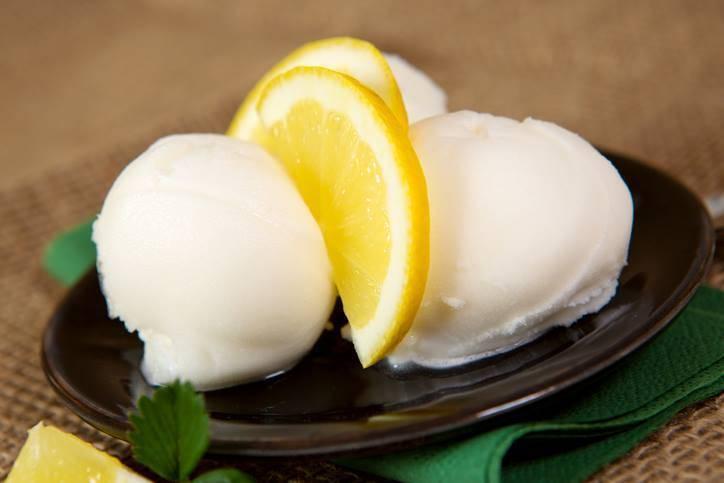 Sorbetto al limone furbo FOTO ricettasprint