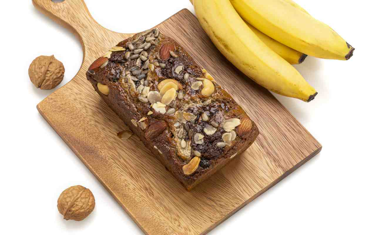 torta banana noci cioccolato ricetta FOTO ricettasprint
