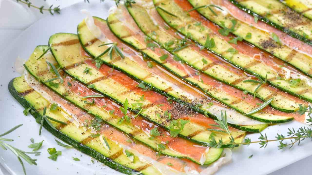 Zucchine e prosciutto crudo