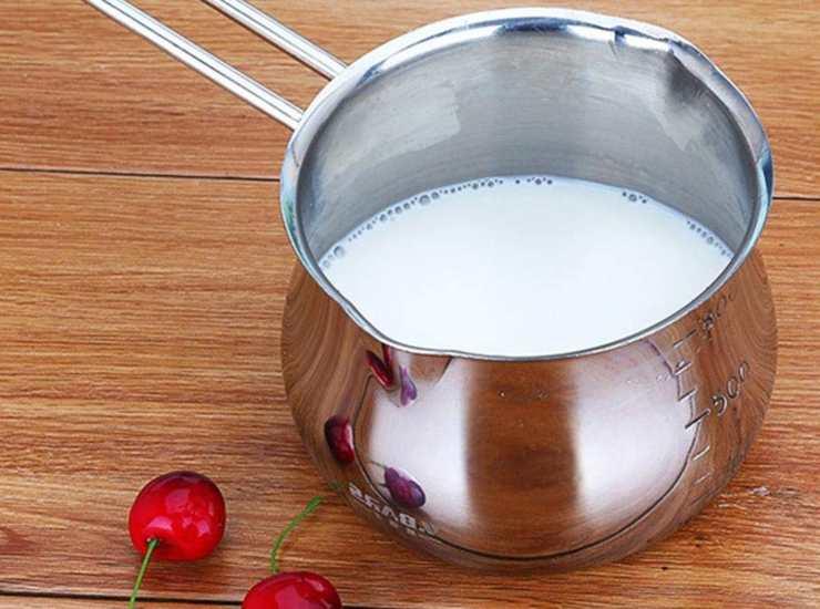 riscaldare il latte