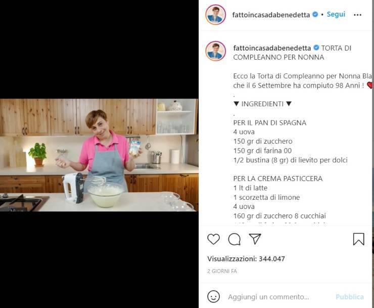 Benedetta Rossi fatta nera confessione - RicettaSprint