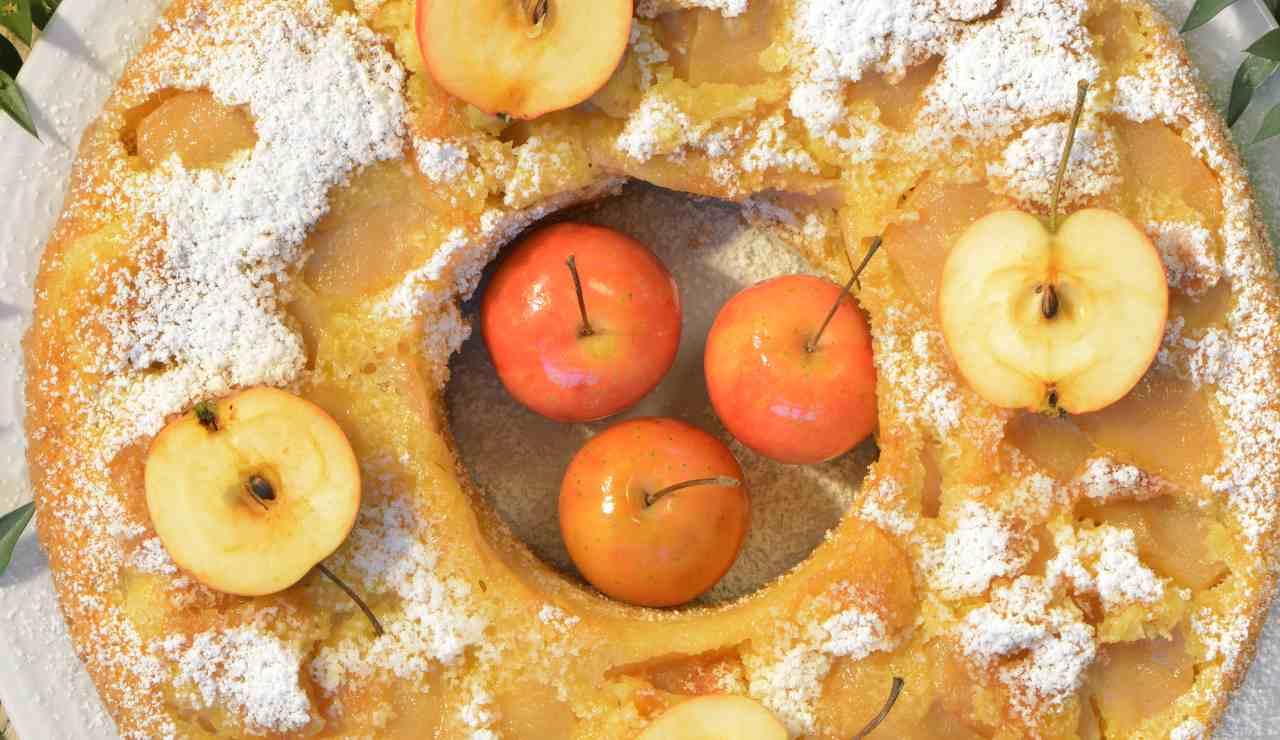 Ciambella soffice alle mele e panna ricettasprint