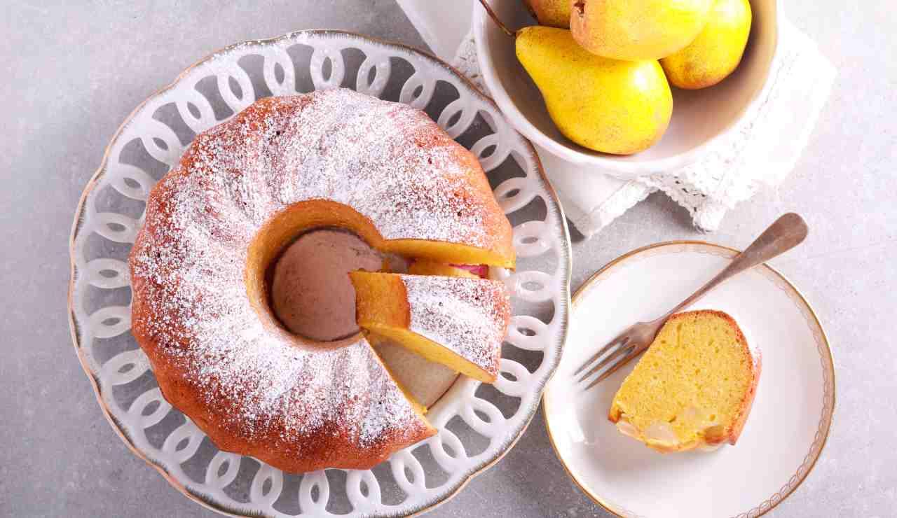 Ciambellone alto pere e vaniglia ricettasprint