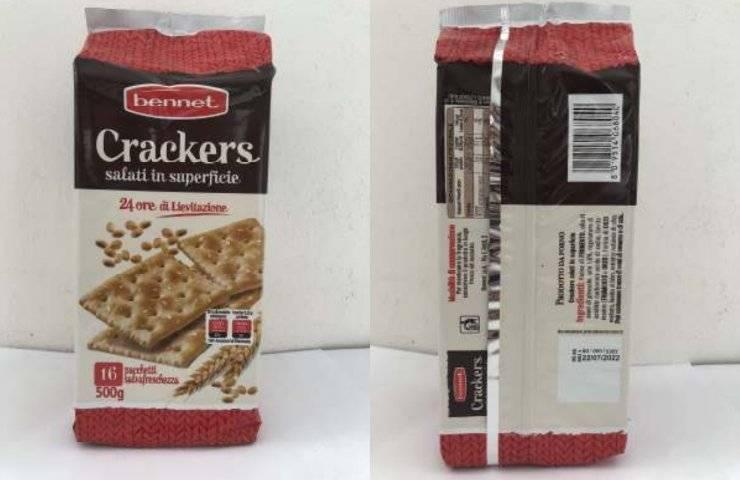 Crackers Bennet richiamo alimentare