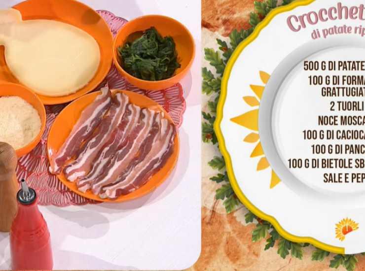 E' sempre mezzogiorno | Ricetta della chef Antonella Ricci | Crocchettoni di patate ripieni