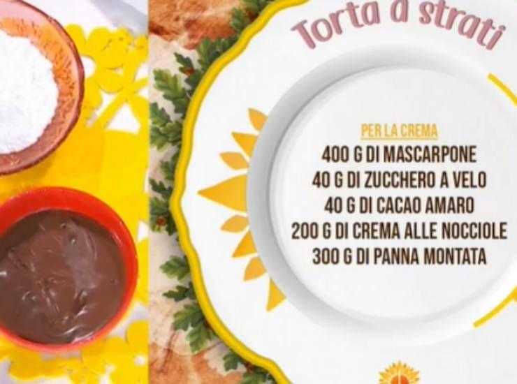 E' sempre mezzogiorno   Ricetta della chef Natalia Cattelani   Torta a strati