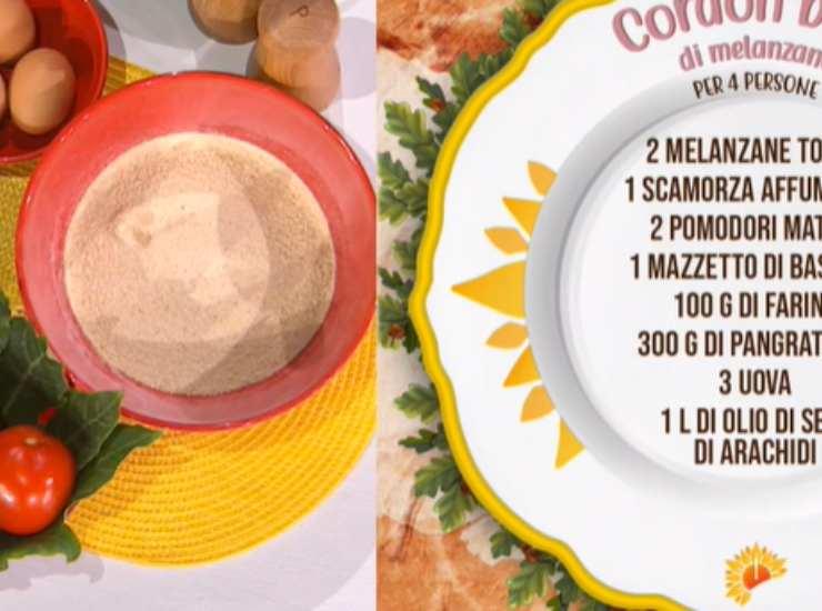 E' sempre mezzogiorno | Ricetta della chef Zia Cri | Cordon bleu di melanzane