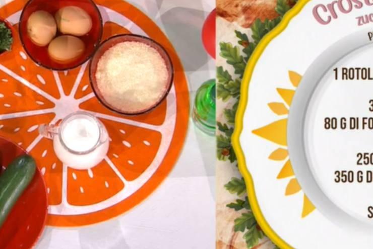 E' sempre mezzogiorno   Ricetta della chef Zia Cri   Crostata salata zucchine e brie
