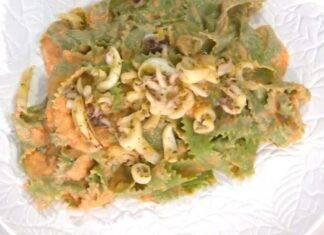 Pasta con verdure e pesce