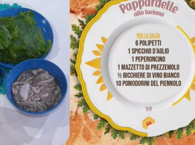E' sempre mezzogiorno   Ricetta dello chef Mauro Improta e suo figlio Mattia   Pappardelle alla luciana