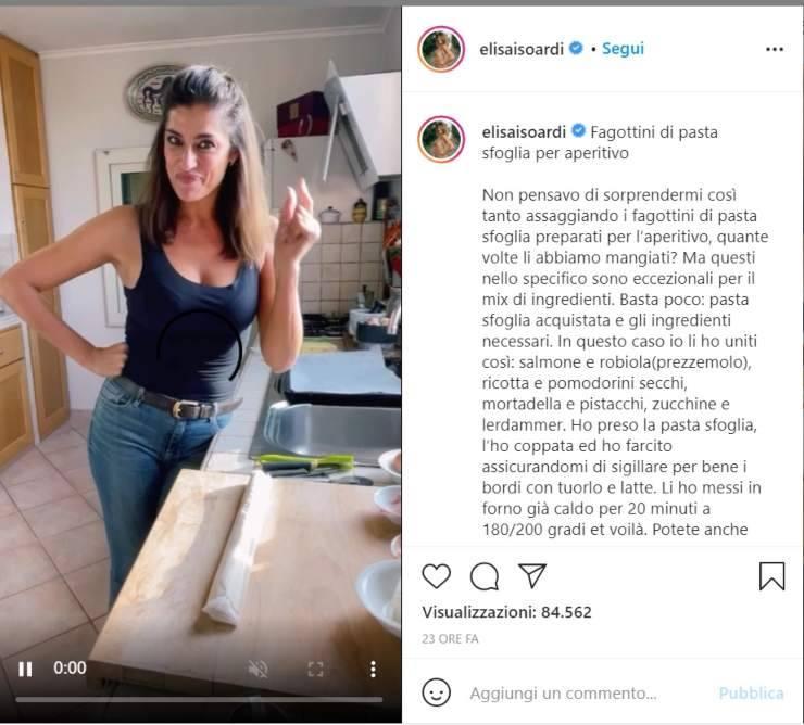 Elisa Isoardi star in cucina - RicettaSprint