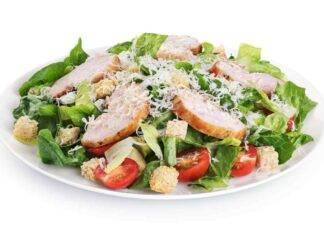 insalata pomodorini pollo crostini ricetta FOTO ricettasprint