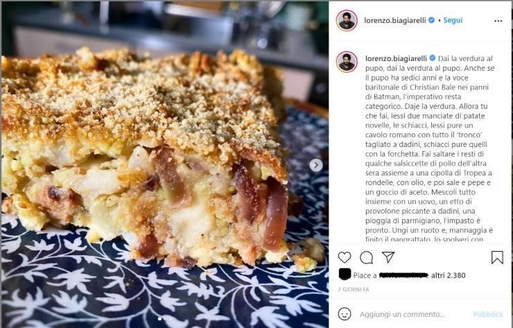 Lorenzio Biagirelli verdura pupone - RicettaSprint