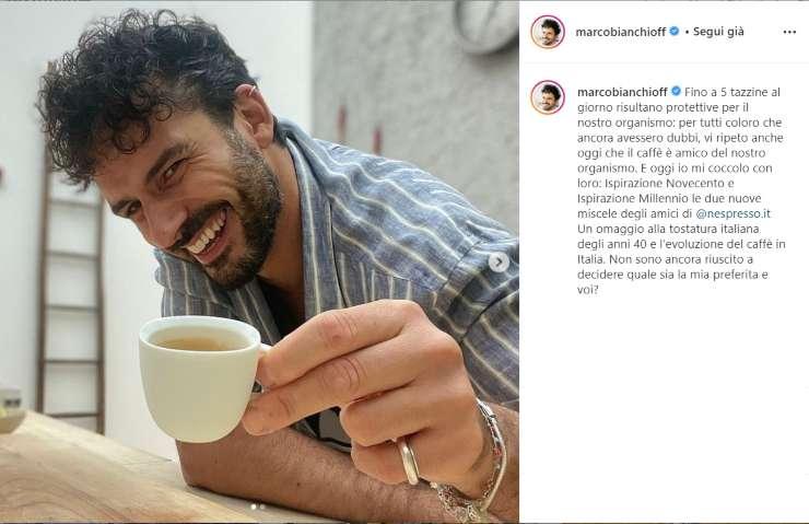 Marco Bianchi passione caffè - RicettaSprint
