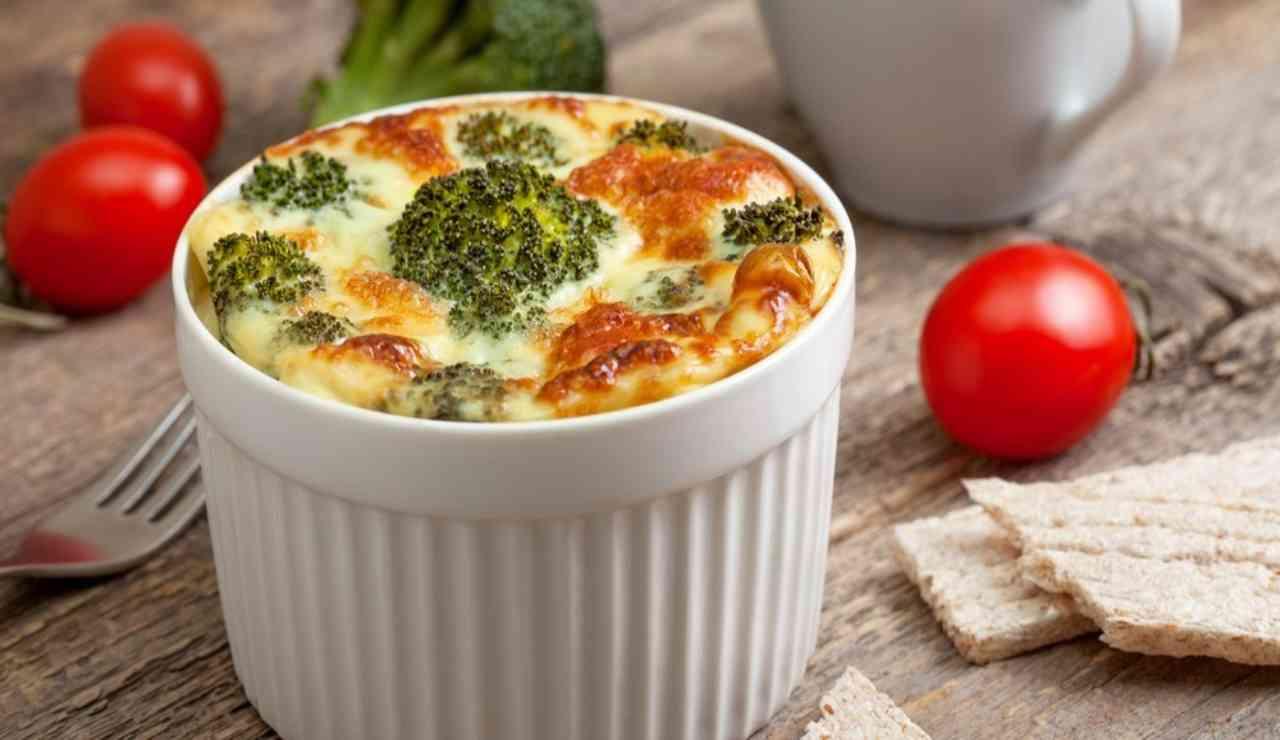 Mini sformati di broccoli e patate filante