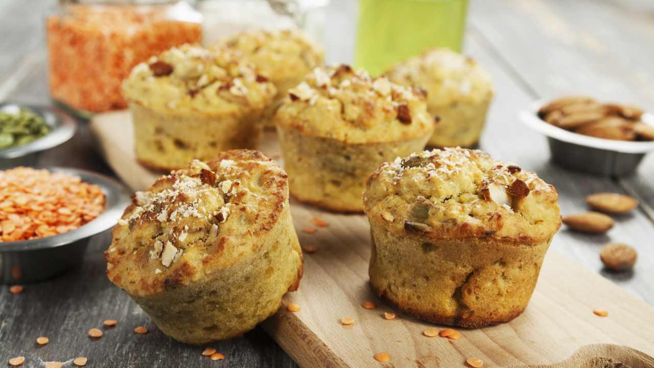 Muffin alle lenticchie