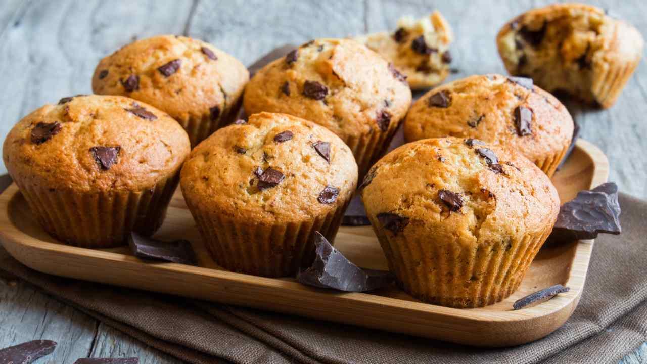 Muffin con gocce cioccolato
