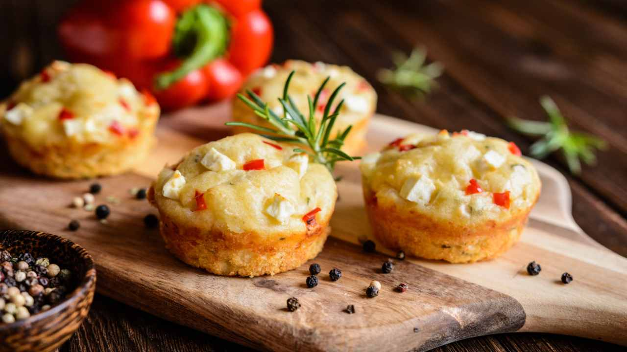 Muffin di peperoni
