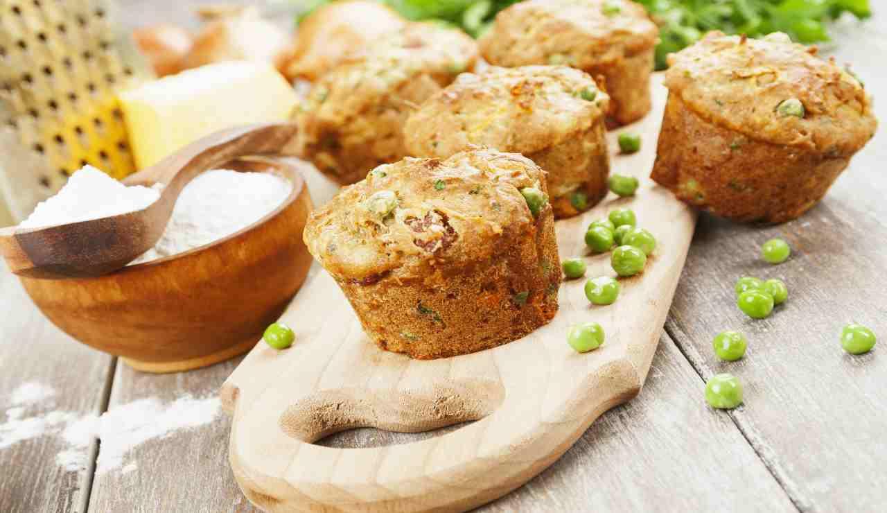 Muffin light di piselli zucchine e broccoli