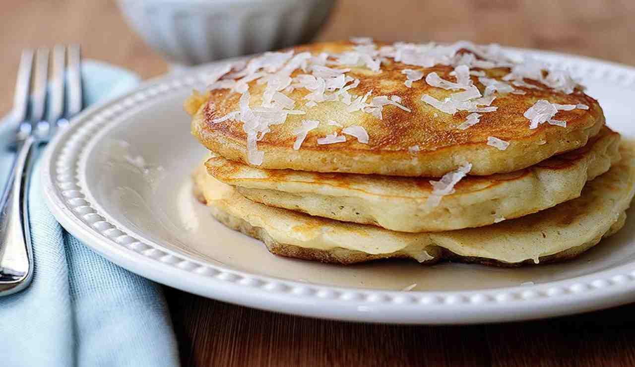 Pancake soffici al cocco