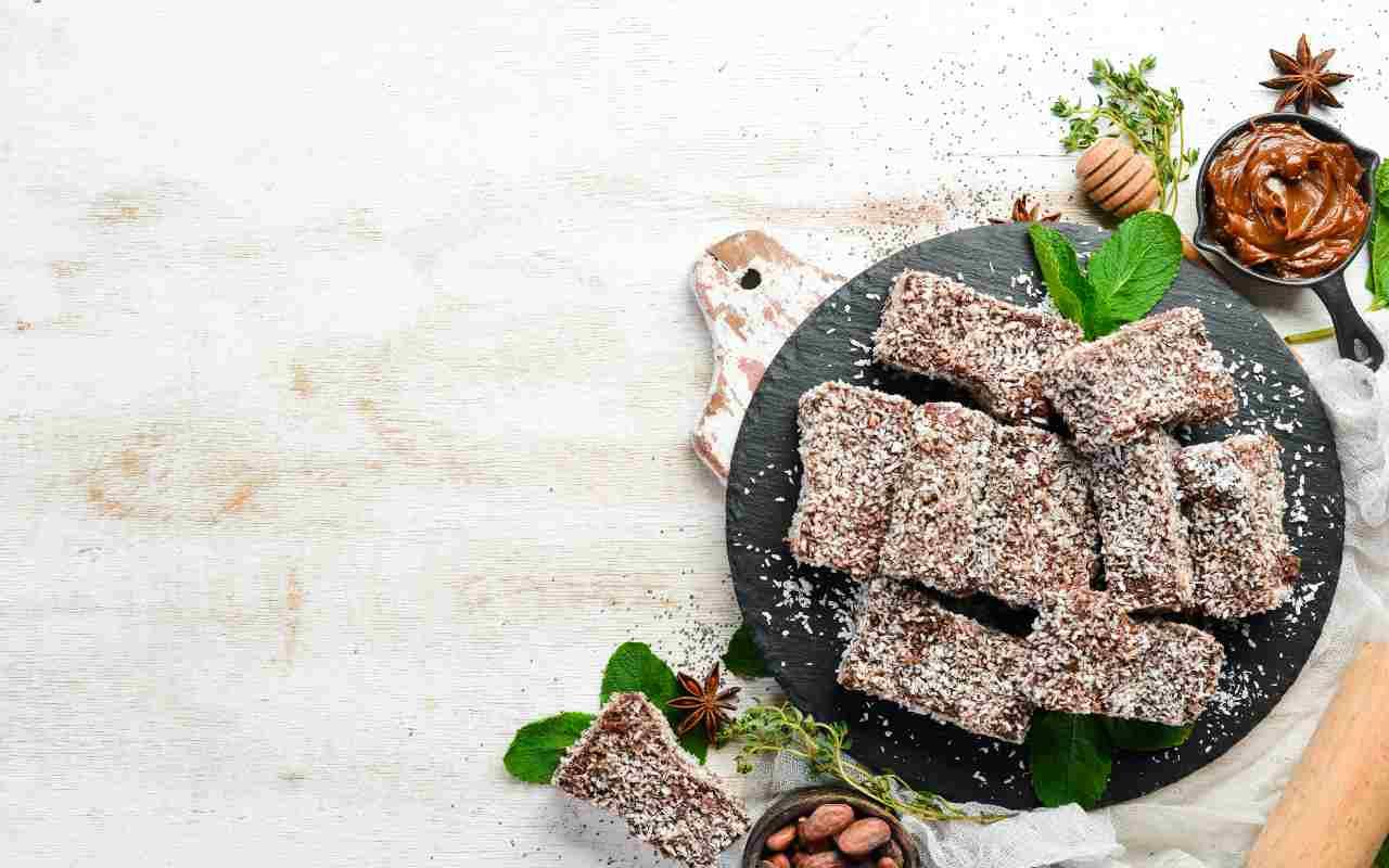 pasticcini cocco cioccolato ricetta FOTO ricettasprint