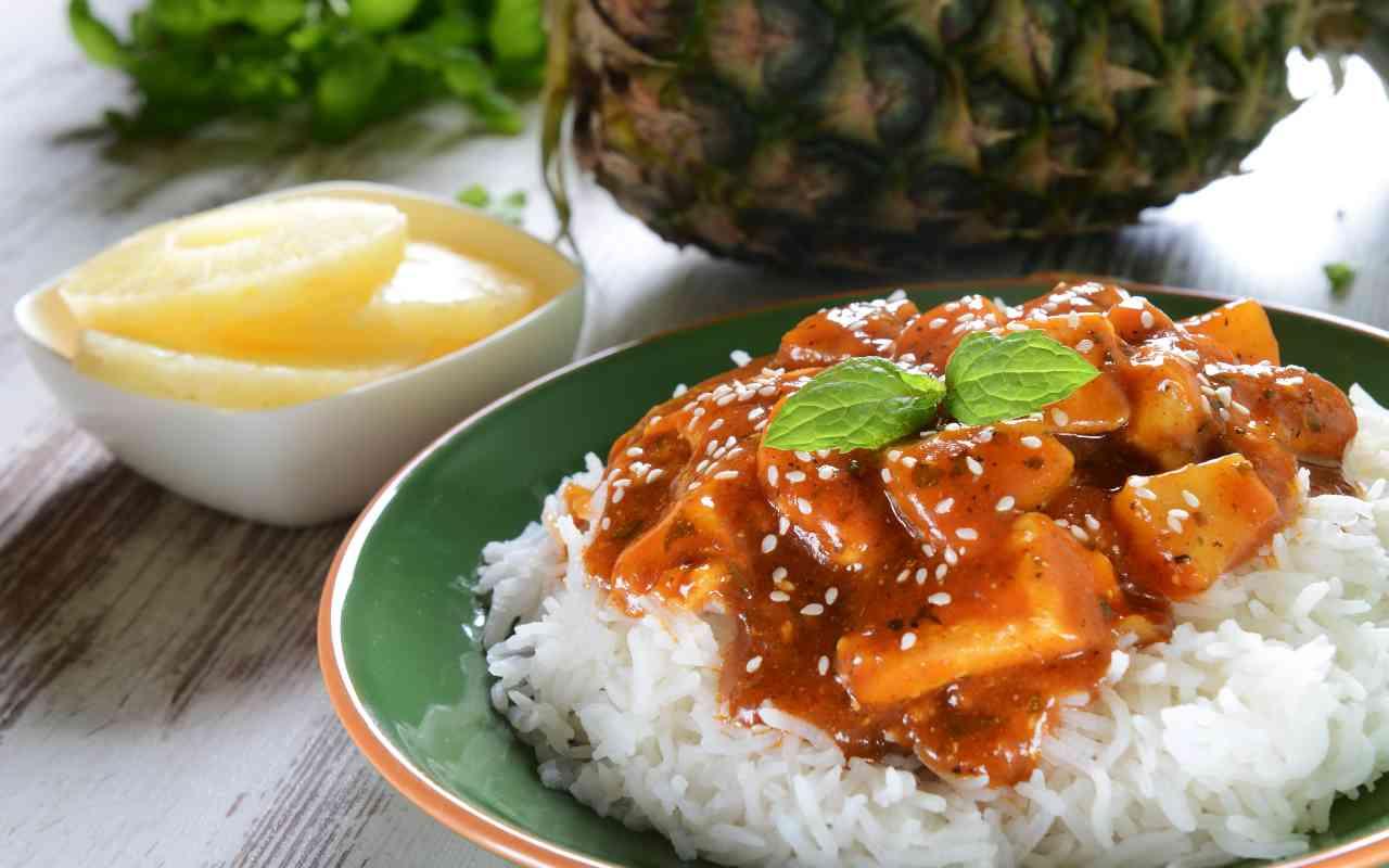 pollo hawaiiano ananas ricetta FOTO ricettasprint