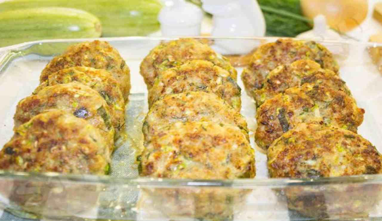 Polpette di zucchine pancetta e scamorza