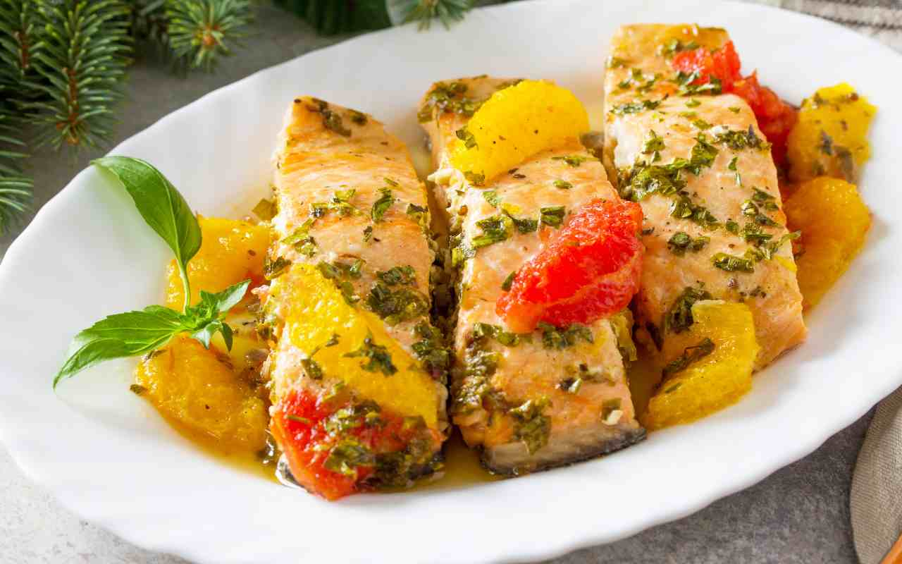salmone pompelmo ricetta FOTO ricettasprint