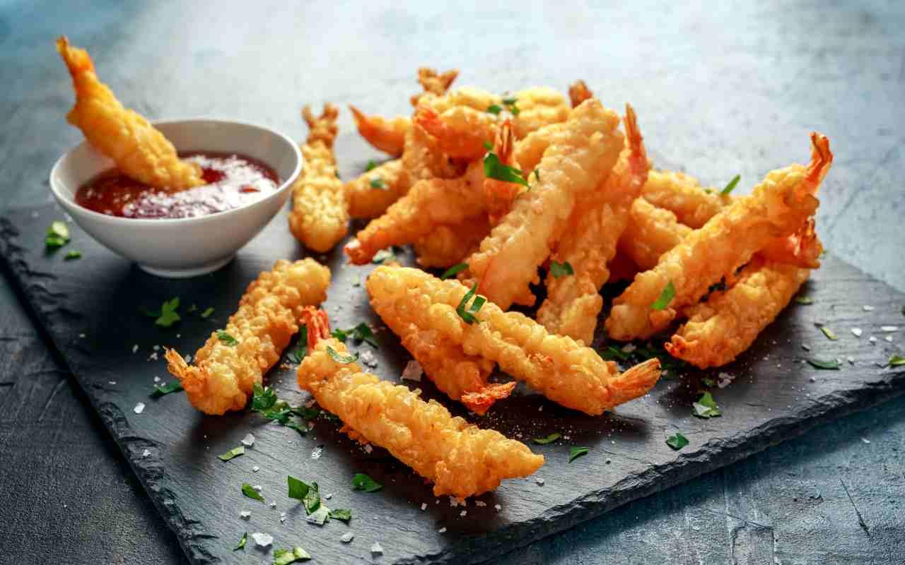 tempura scampi ricetta FOTO ricettasprint